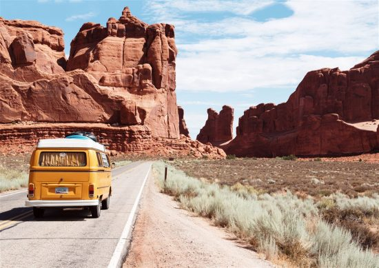 caravan in Arches National Park
